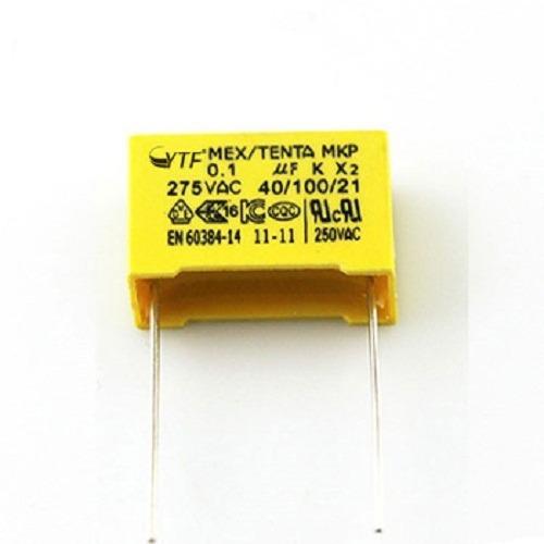 Capacitor X2 Polipropileno Segurança 0,1uf 275vac 40/100/21