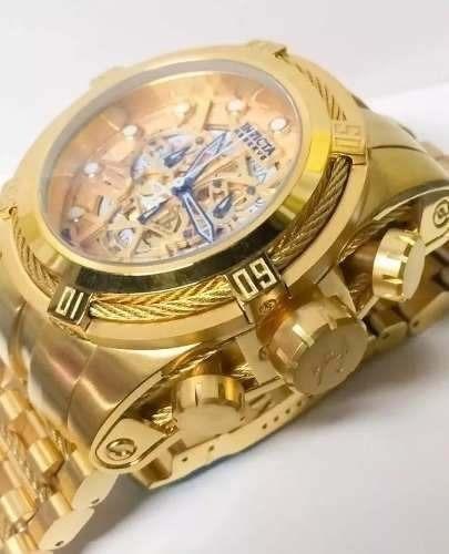 Relógio Invicta Zeus Skeleton Dourado Maculino 12763