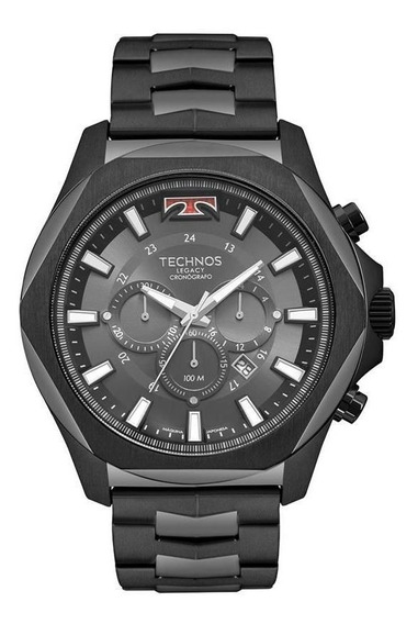 Relógio Technos Legacy Js26al/4p Cronógrafo Big Case Black