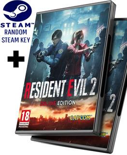 Random Steam Key + Resident Evil 2 Remastered Remake Versión Deluxe Hd + Dlcs - Pc Windows + Regalo