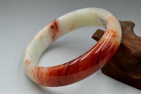 Tam:59mm Natural Jade Chinês Esculpida A Mão Pulseira,