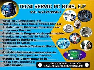 Servicio Técnico De Computadoras A Domicilio, Redes Y Cctv