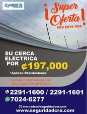 Su Cerca Eléctrica Por Solo 197.000 Colones Cerca Electrica
