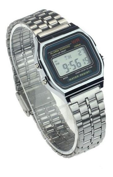 Relógio De Pulso Vintage Led Negócios Unisex Digital Retrô