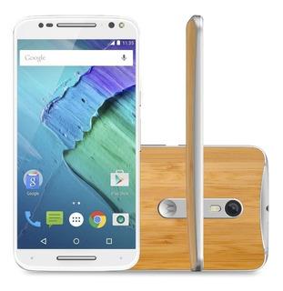 Celular Libre Moto X Stylus 32gb 4g Color Gris Bambu Nuevo