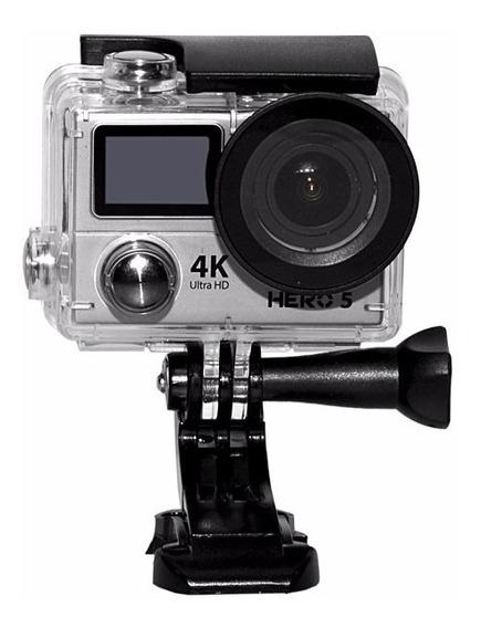 Camera Goal Pro Hero 5 Silver 4k Lcd Wifi Brinde 32gb Clas10
