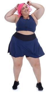 Shorts Saia Plus Size Esther Wonder Size Marinho Emana