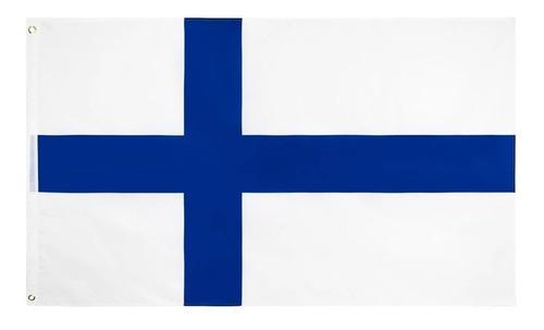 Imagem 1 de 2 de Bandeira Finlândia 150cm X 90cm Finlandesa Mercado Envios