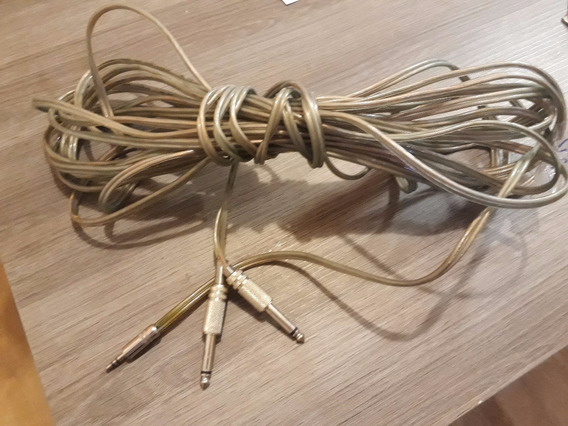 Cabo Audio P2 Para P10 Montado Com Conectores 10mt