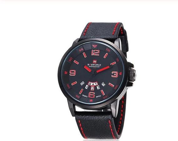 Relógio Masculino Naviforce Pulseira De Couro Envio Imediato!!! Frete Grátis