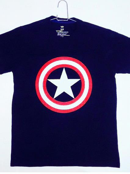 Camisa Capitão América Camiseta Personalizada Herói Geek