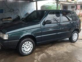 Fiat Uno Mille Com Motor 1.0 Verde Escuro 5 Portas Gasolina