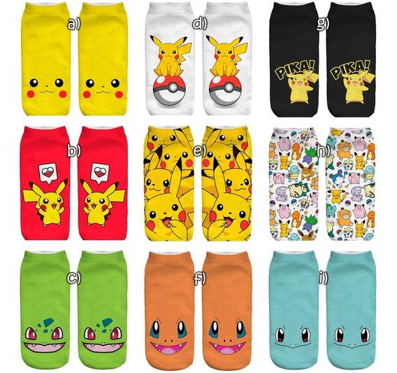 Calcetas Impresas Pokemon Niño 3-8 Años