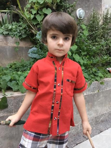 Camisa Mexicana Infantil Menino T2 Varal
