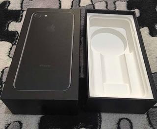 Caixa Vazia iPhone 7 128gb Preto Jet Black Original