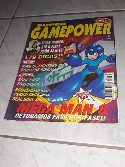 Revista Super Game Power Mega Man 8 Detonado Nº36 Usada Bom