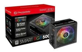 Fonte Atx - 500w - Thermaltake Smart Rgb 80 Plus - Preta - P