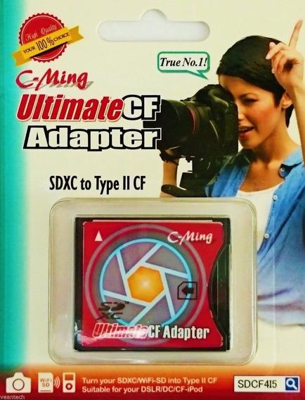 Adaptador Memoria Sd A Compact Flash Sd A Cf Type Ii - Tipo 2