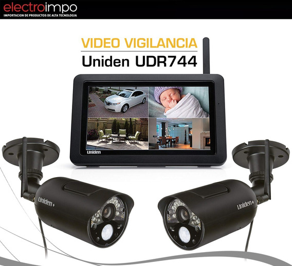 Cámara De Seguridad Por 2 + Tablet Inalámbrico Uniden Udr744
