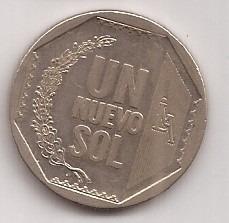 Peru Moneda De 1 Nuevo Sol Año 2007