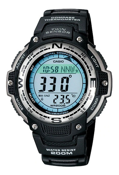Reloj Casio Outgear Sgw-100-1v, Brujula,termometro, Wr.20bar