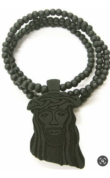 Colar Cor Preto Jesus Pirce Goodwood Hip Hop Madeira