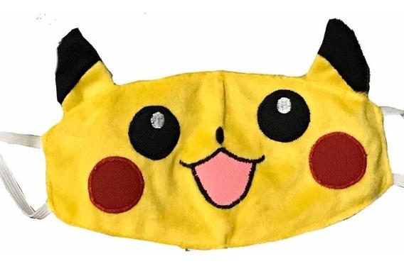 Cubrebocas Pikachu Tapa Bocas Pokemon Anime Tela Fll