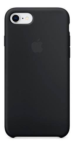 Carcasa Funda Estuche En Silicona Para iPhone 8 Negro