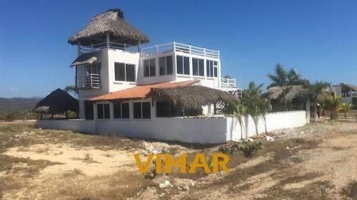 Casa De Playa En Venta Palmarito Puerto Escondido