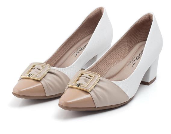 Sapato Scarpin Piccadilly 744068 - Branco