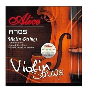 Encordado Alice Violin 4/4 Acero Recubierto En Nickel