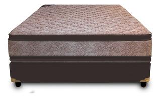 Colchón Y Somier 2 Plaz 130x190 Doble Pillow 120 Kg Resortes
