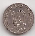 Trinidad Y Tobago Moneda De 10 Cents Año 1966