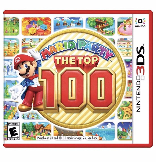 Mario Party The Top 100 3ds - Mídia Fìsica Lacrado Nintendo