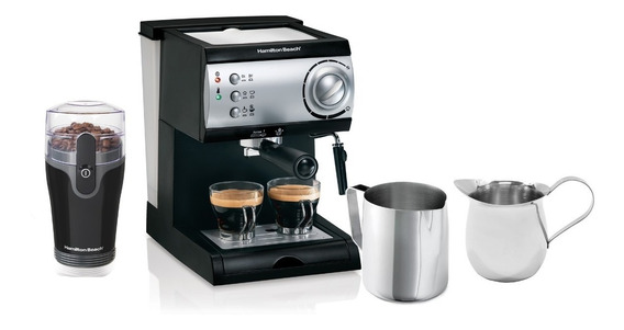 Paquete Cafetera +molino +taza Cremera +taza Espumadora