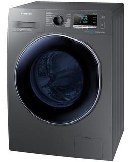 Lavadora E Secadora De Roupas Samsung 11kg, Porta Crystal Blue E Ecobubble, Inox - Wd11j6410ax - 110v