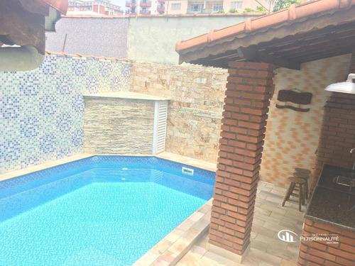 Sobrado Com 3 Dormitórios À Venda, 137 M² Por R$ 600.000,00 - Tupi - Praia Grande/sp - So0224