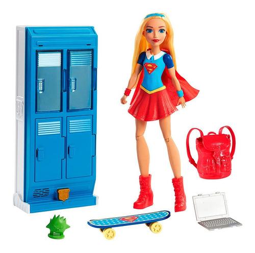 Imagen 1 de 5 de Muñeca Dc Super Hero Girls  Supergirl & Locker  Mattel