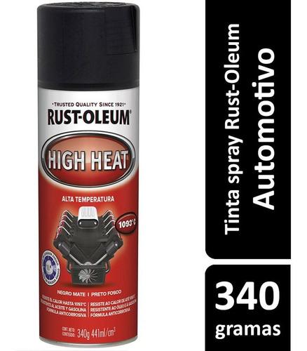 Spray Preto Fosca Alta Temperatura Até 1.093 ºc - Rust Oleum
