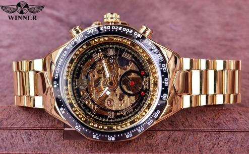 Relógio De Pulso Masculino Luxo Automático
