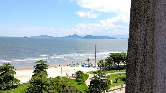 Vista Deslumbrante Da Praia De Santos - A4571
