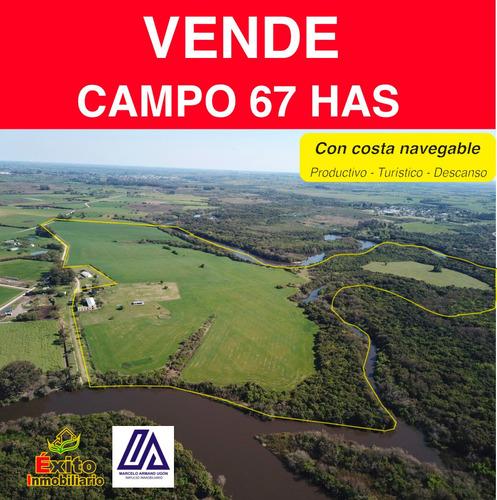 Campo Con Costa Navegable Agricola Turismo Descanso