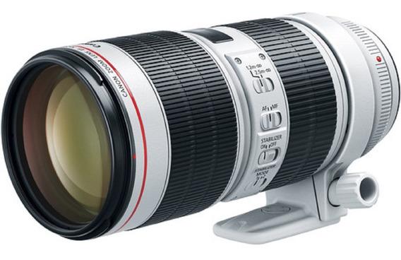 Lente Canon Ef 70-200mm F/2.8l Is Iii Usm Garantia Sem Juros