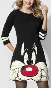 Hermoso Vestido Silvestre Looney Tunes Licencia Original