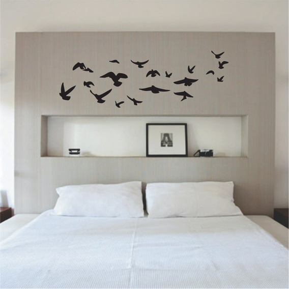 Adesivo Papel Parede Pássaros Voando Decoração