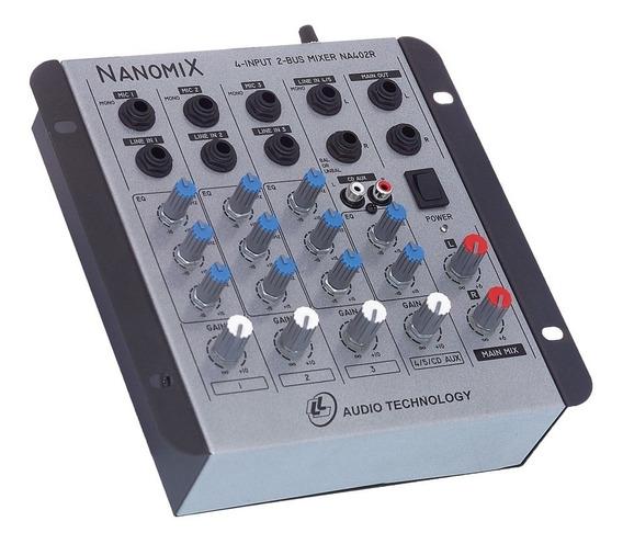 Mesa De Som Mixer Ll Audio Na402r 4 Canais - Loja Arte Som !