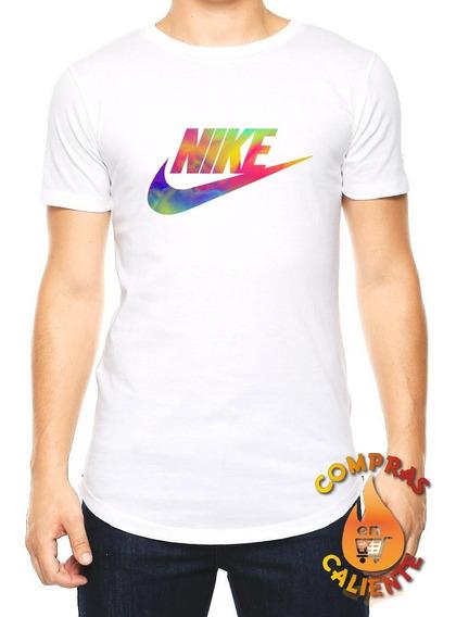Playera Camiseta Remera Deportiva Gym Hombre Nike Acuarela