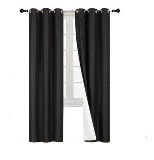 Cortinas Blackout 188anchox160largo En 2 Paneles Ahuladas
