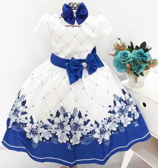 Vestido Estampa Floral Luxo Aniversário Festa Casamento