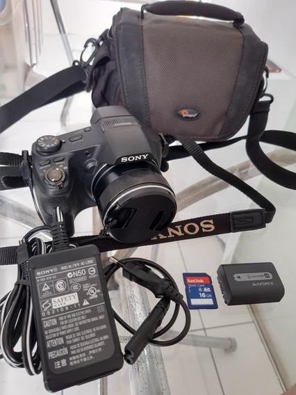 Frete Grátis! Câmera Sony Hx200v + Bolsa + Sd16gb + Itens